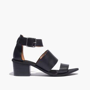 Madewell Warren Black Strap Heeled Sandals